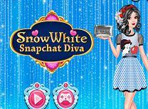 Alba ca Zapada Diva pe Snapchat
