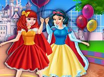 Alba ca Zapada si Scufita Rosie la Disneyland