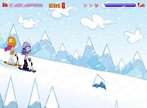 Ami si Yumi cu Snowboardul
