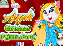 Angela Petrecere in Pijamale de Craciun