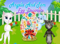 Angela Si Tom Decoreaza Oul de Paste