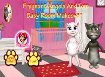 Angela si Tom Aranjeaza Camera Copilului