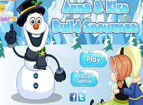 Anna si Elsa Construiesc un Om de Zapada