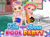 Anna si Elsa Gata de Piscina