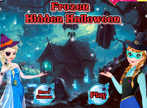 Anna si Elsa Obiecte Ascunse de Halloween