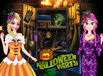 Anna si Elsa Petrecere de Halloween