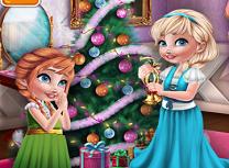 Anna si Elsa Pregatiri de Craciun