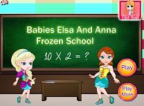 Anna si Elsa la Scoala