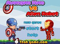 Avengers Vs Robotii Extraterestrii