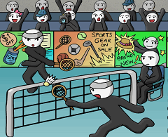 Badminton in doi