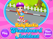 Barbie Accident cu Skateboardul