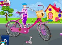 Barbie Spala si Repara Bicicleta