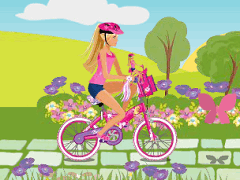 Barbie pe Bicicleta