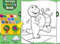 Barney Carte de Colorat