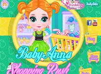 Bebelusa Anna Graba la Cumparaturi