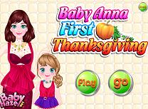 Bebelusa Anna de Ziua Recunostintei