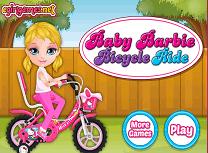 Bebelusa Barbie cu Bicicleta