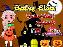 Bebelusa Elsa Machiaj de Halloween