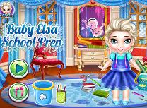 Bebelusa Elsa Pregatiri Pentru Scoala