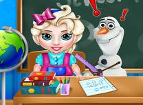 Bebelusa Elsa la Scoala