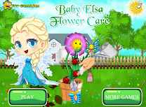 Bebelusa Elsa si Floarea ei