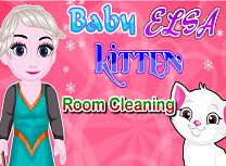 Bebelusa Elsa si Pisicuta Curatenie