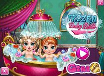 Bebelusele Anna si Elsa Fac Baie