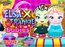 Bebelusele Elsa si Frankie Stein
