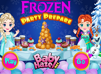 Bebelusele Frozen Pregatiri de Petrecere