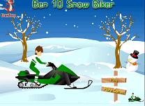 Ben 10 cu Snowmobilul