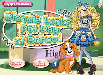 Blondie Lockes Ziua Animalelor la Scoala