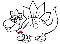 Bunul Dinozaur de Colorat
