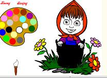 Coloreaz-o pe Masha