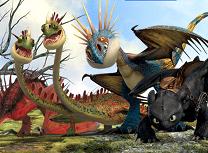 Coloreaza Dragonii