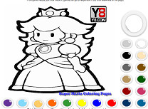 Coloreaza Printesa lui Mario