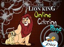 Coloreaza Regele Leu