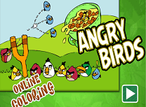 Coloreaza cu Angry Birds