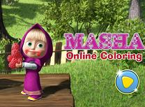 Coloreaza cu Masha