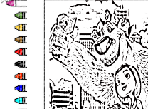 Coloreaza cu Norm de la Polul Nord