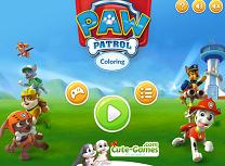 Coloreaza cu Paw Patrol