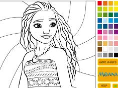 Coloreaza cu Printesa Moana