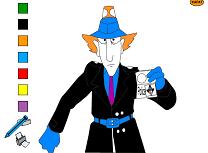 Coloreaza-l pe Inspectorul Gadget