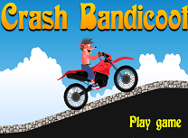 Crash Bandicoot cu Motocicleta