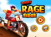 Cu Motocicleta in Desert