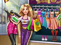 Cumparaturi cu Printesa Rapunzel