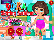 Dora Accident cu Patinele