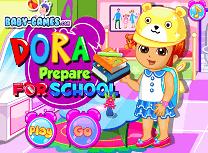 Dora merge la Scoala