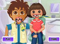 Dora si Diego la Dentist