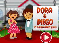 Dora si Diego pe Covorul Rosu