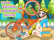 Elsa Accident cu Bicicleta